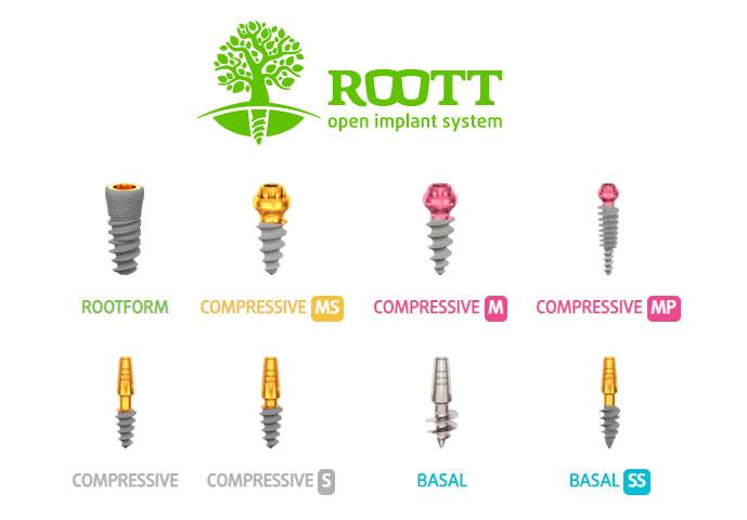 Импланты зубов ROOTT